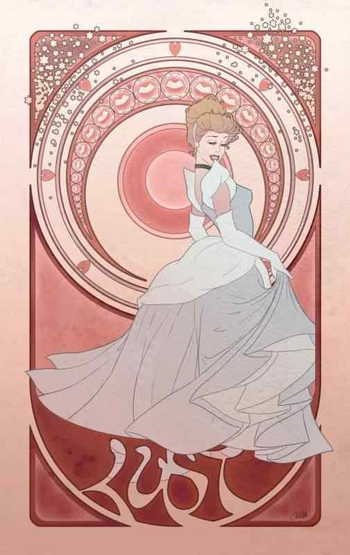 lust by chill07 d35jhrq 505x800 Princesas Disney Art Nouveau