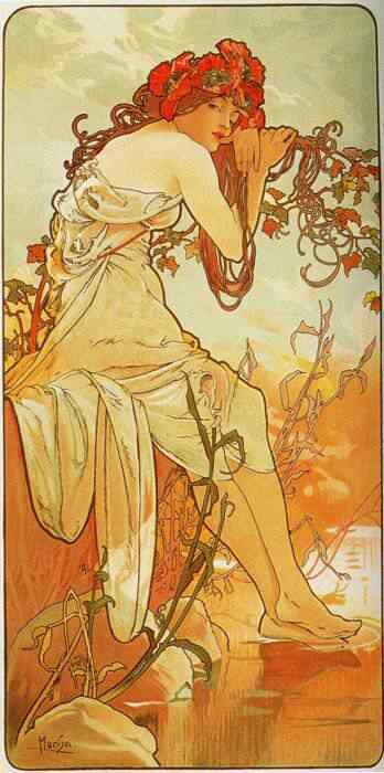 mucha20 Princesas Disney Art Nouveau