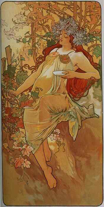 mucha22 Princesas Disney Art Nouveau