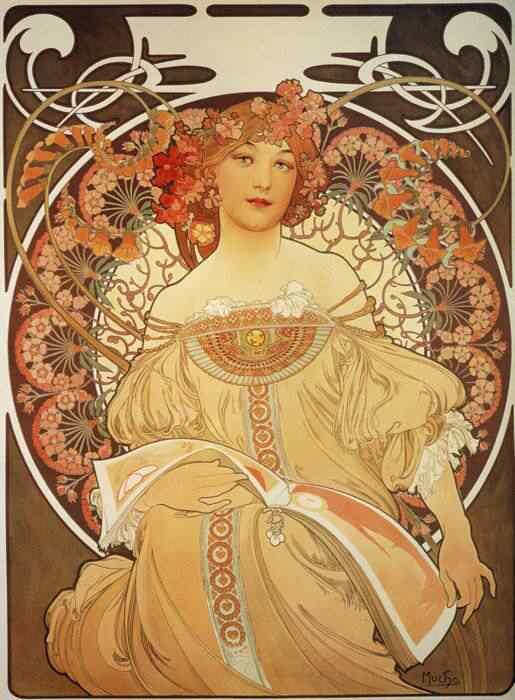 mucha28 Princesas Disney Art Nouveau