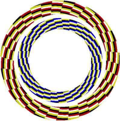 Ilusão de ótica da espiral invisível