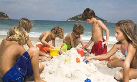 O maior castelinho de areia do mundo