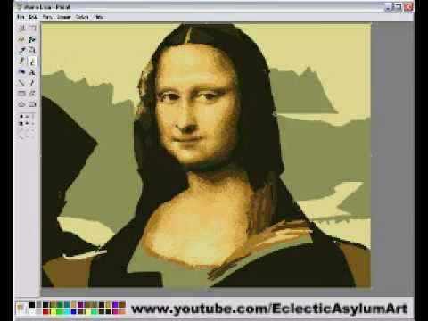 Mona Lisa no MS Paint!