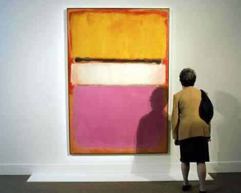 White Center Yellow Pink and Lavender on Rose by Mark Rothko Laranja, vermelho e amarelo