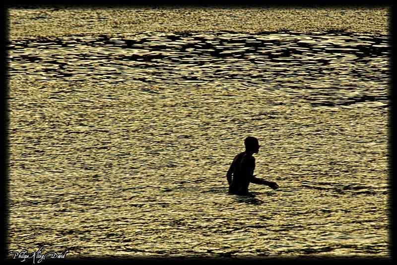 Entardecer na praia