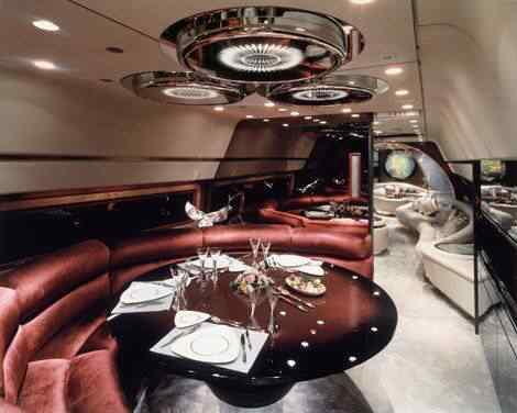 O interior dos aviões dos ditadores africanos