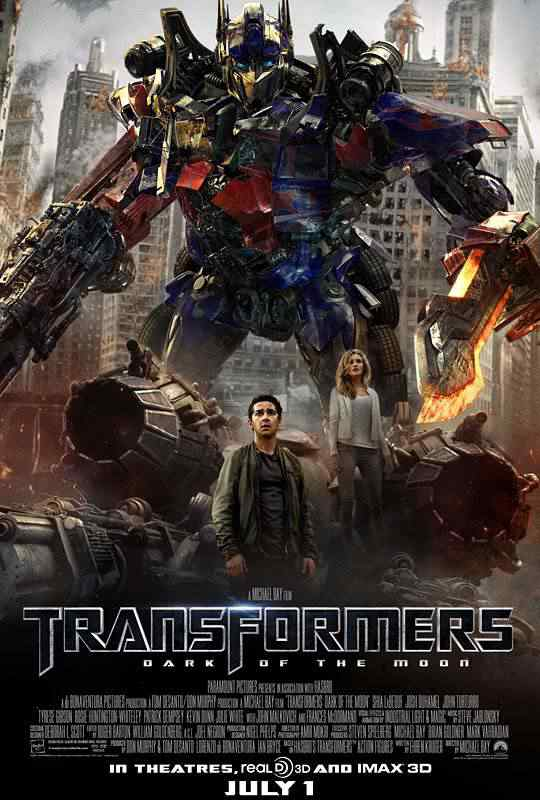 TRANSFORMERS 3 DARK OF THE MOON Movie Poster Ninja Romeo Os melhores filmes do mundo com robôs