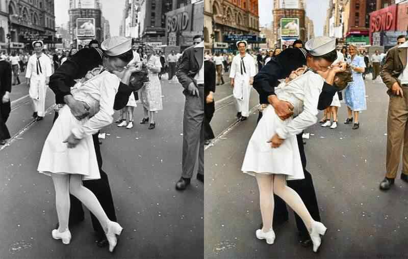 Incríveis fotos preto e branco em versões coloridas