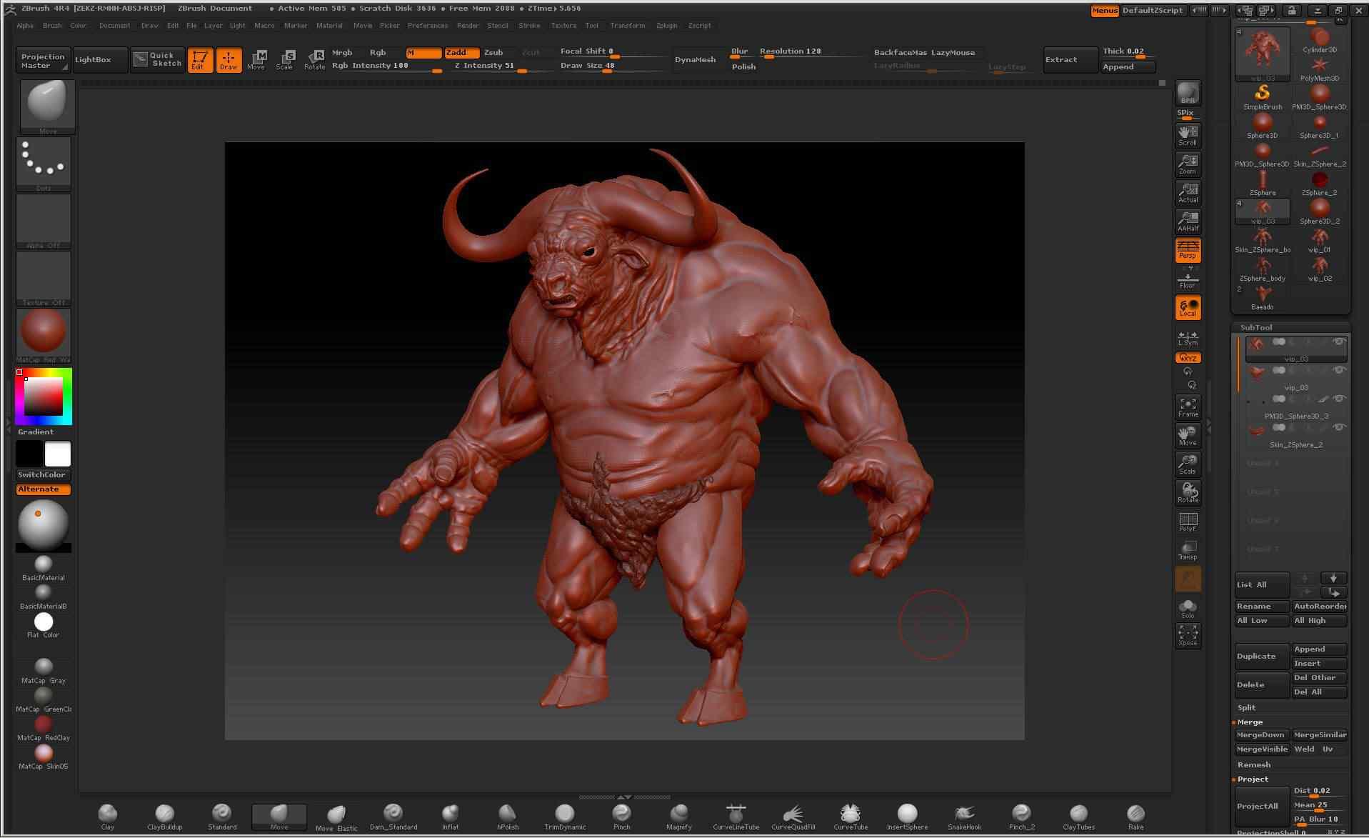 Como esculpir digitalmente um minotauro em 3d - Tutorial de Zbrush
