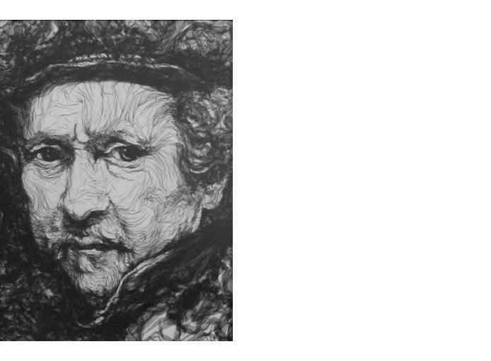 33 rembrandt A incrível arte de Benjamin Shine usando ferro de passar