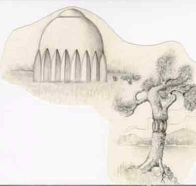 Esta seria a aparência dos domos, segundo os relatos das testemunhas oculares.
