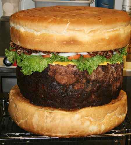 O maior hambúrguer da Grã Bretanha