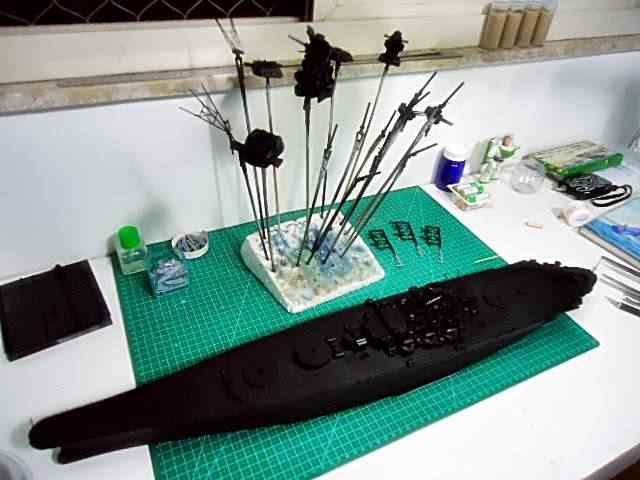 base Plastimodelismo: Construindo o Yamato