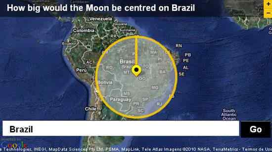 É o Dimensions, da BBC, que permite que a gente possa comparar o tamanho de diversas coisas com locais reais pelo Google Earth.