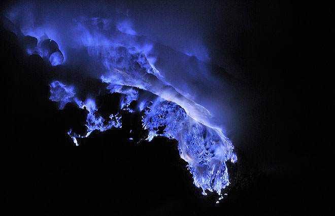 O vulcão da LAVA AZUL