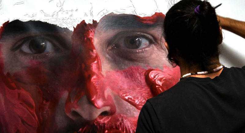hyperrealistic self portraits paint on face by eloy morales 2 Isso não é a foto de um sujeito com tinta na cara