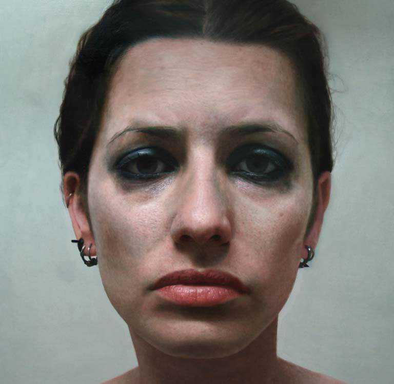 mulher Isso não é a foto de um sujeito com tinta na cara