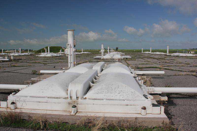 O campo de silos de lançamento