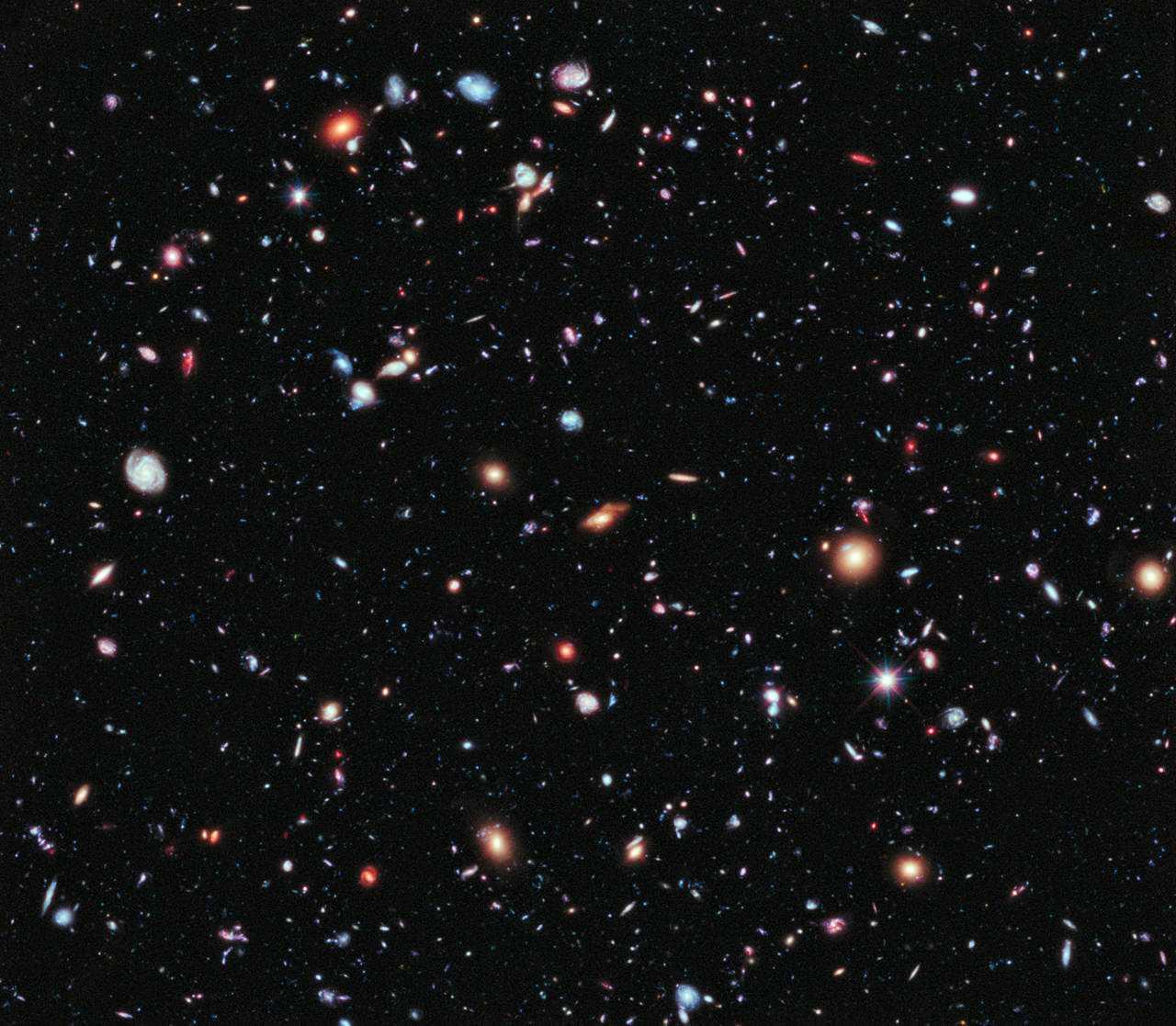 Não é ruído! É galáxia distante!