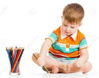 Esta é a forma como crianças pequenas seguram num lápis