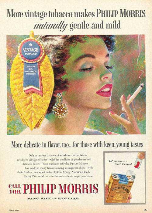 Até cigarro já foi vendido como algo desejável, que fazia bem e deixava a mulher bonita.