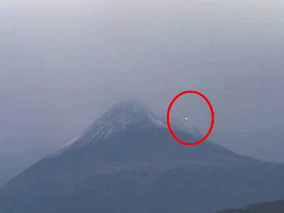 UFO Volcano Popocatépetl, Mexico 2013