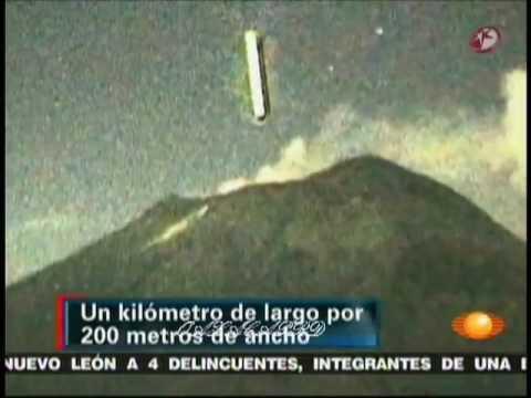 Objetos similares ja foram vistos e filmados, entrando e saindo do vulcão Popocatepetl no Mexico