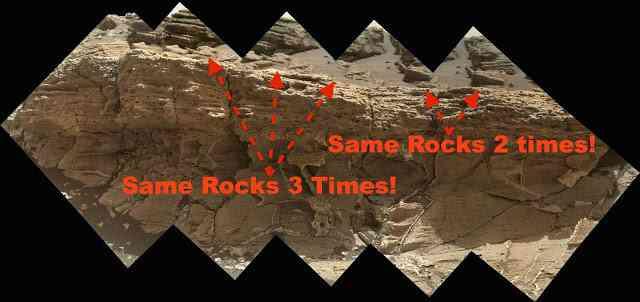 Mars fake image - rocks blurred