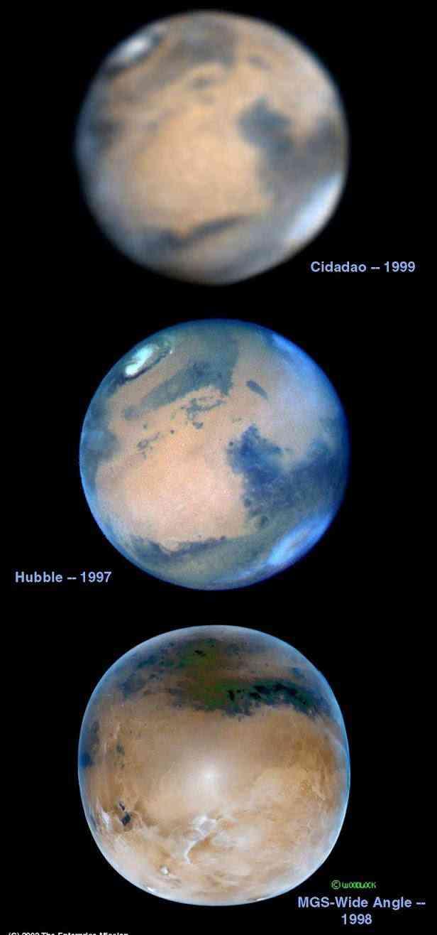 """Três telescópios diferentes mostram as """"verdadeiras cores de Marte"""". Cadê o Vermelhão ferrugem, gente?"""