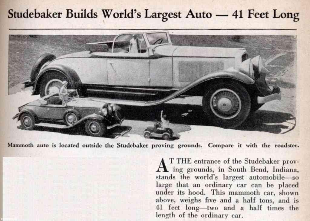 Um carrão incrível chamado Studebaker President