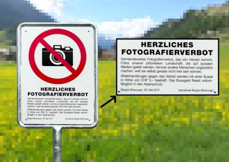 Vila suíça decide proibir fotos do local... Porque lá é muito bonito