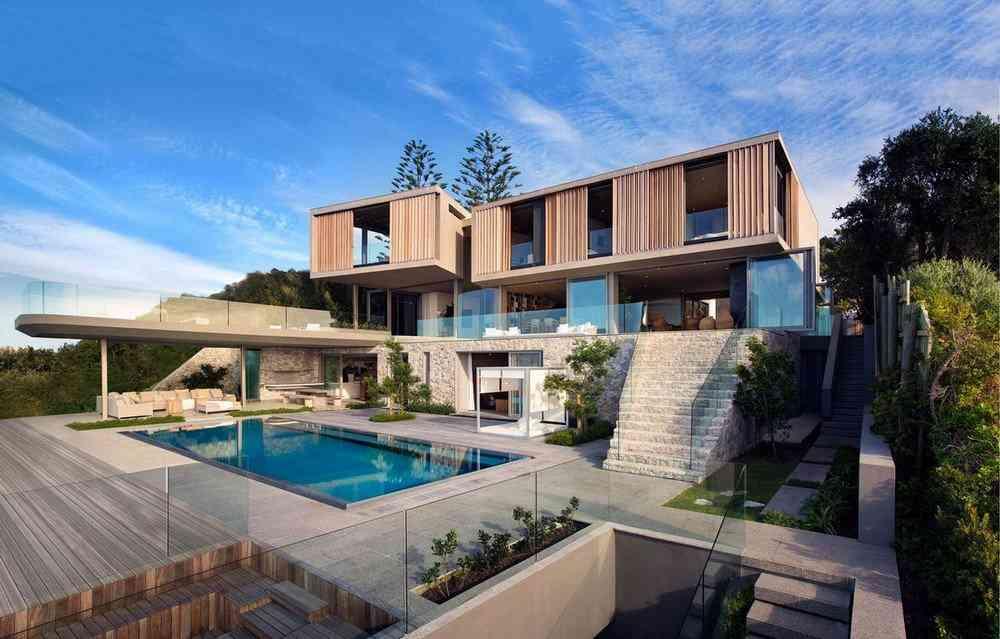 Uma casa com vista para o mar na África do Sul