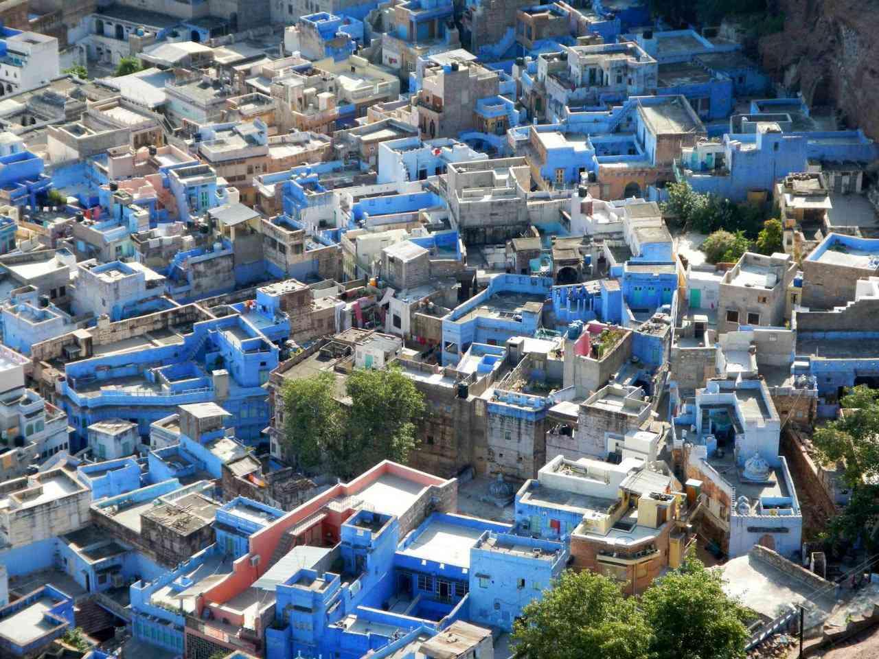 A cidade azul da Índia