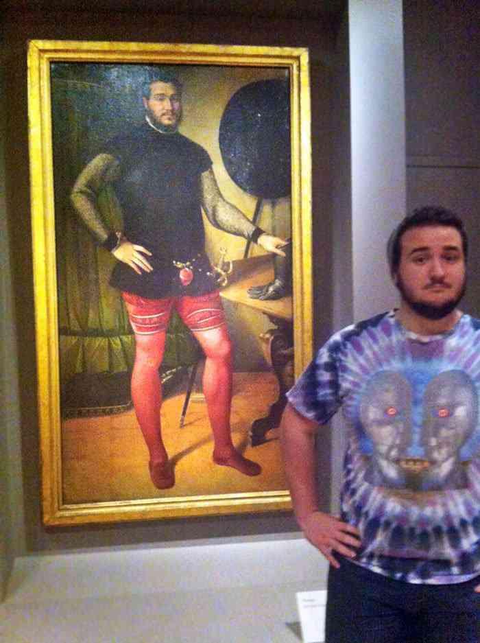 Aí você chega no museu e...