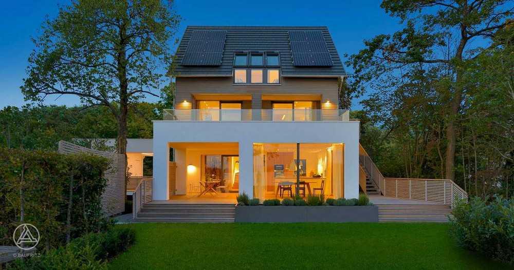 Uma casa na beira do lago na Alemanha