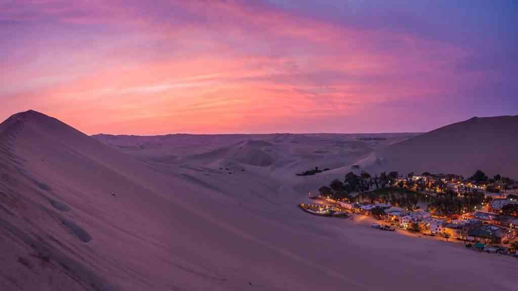 Huacachina: um Oásis na América do Sul