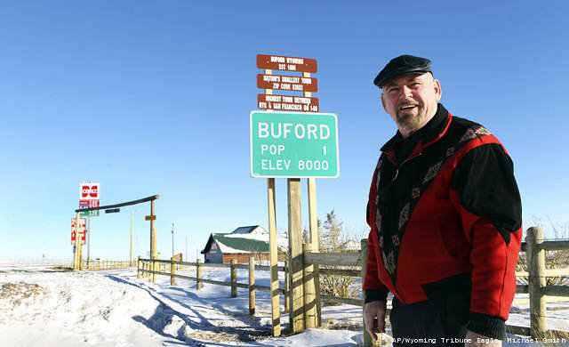 Buford, a cidade de um único habitante