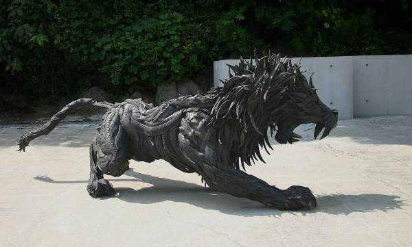 Incríveis esculturas de pneu