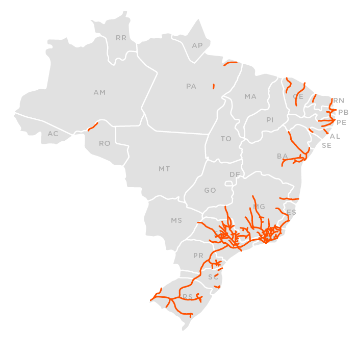 Ferrovias mapa 1910
