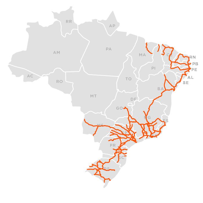 Ferrovias mapa 1960