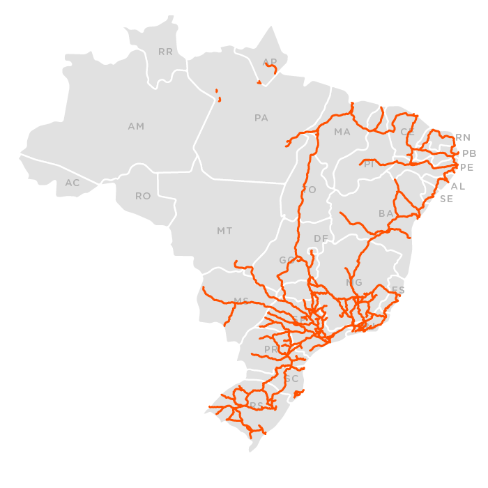 Ferrovias mapa 2016