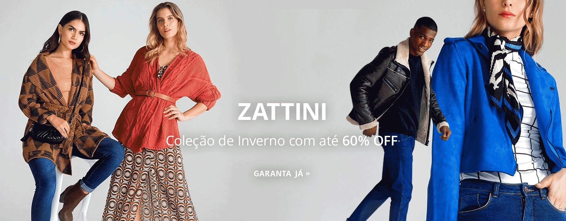 Zattini: Coleção de Inverno com até 60% OFF
