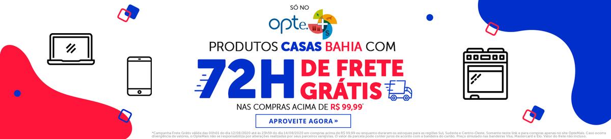 72 horas Frete Grátis Casas Bahia