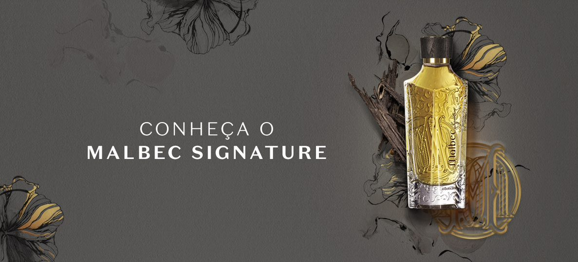 Malbec Signtaure é o primeiro eau de parfum da marca Malbec