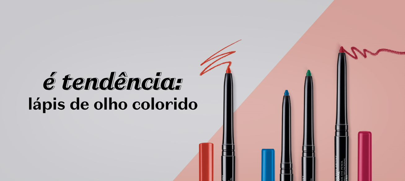 Lápis de olho colorido: tendência que veio para ficar