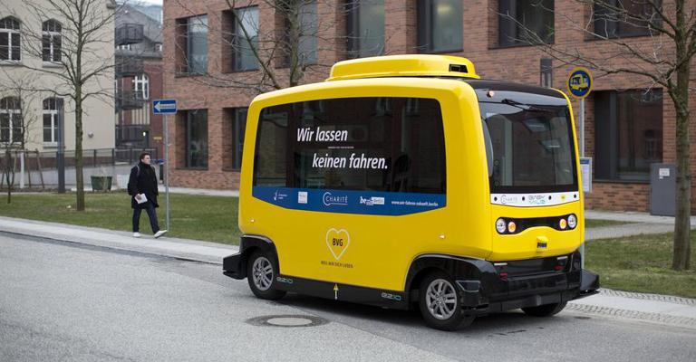 Uma volta num ônibus autônomo em Berlim