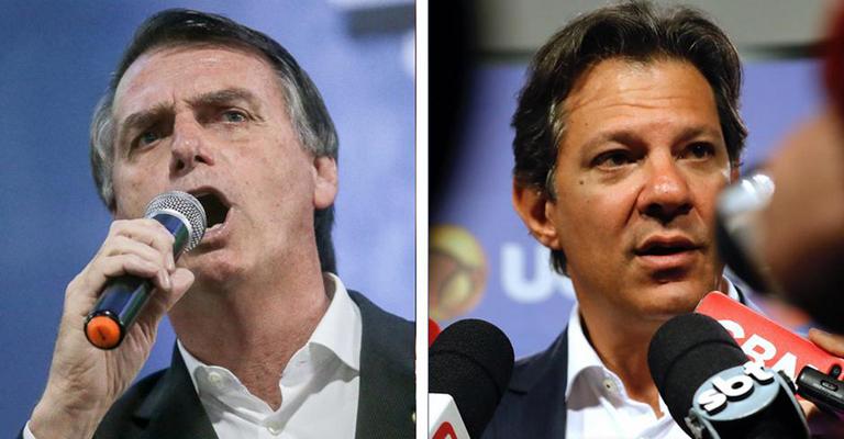 Bolsonaro tem 59% dos votos válidos, e Haddad, 41%