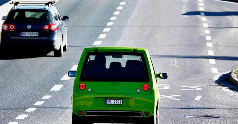 Os carros elétricos estão conquistando a Noruega