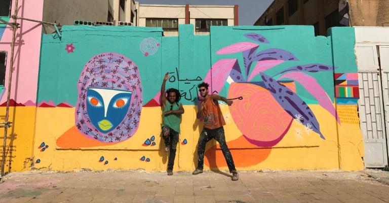 Brasileiros completam a maior pintura já feita na Síria