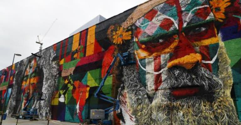 Mural gigante será parte do legado cultural da Rio 2016